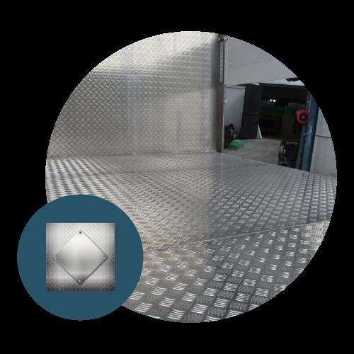 Suelo de aluminio Recapol